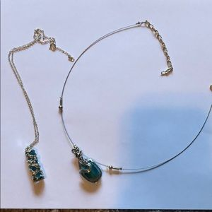 Never been worn set of 2 blue necklaces